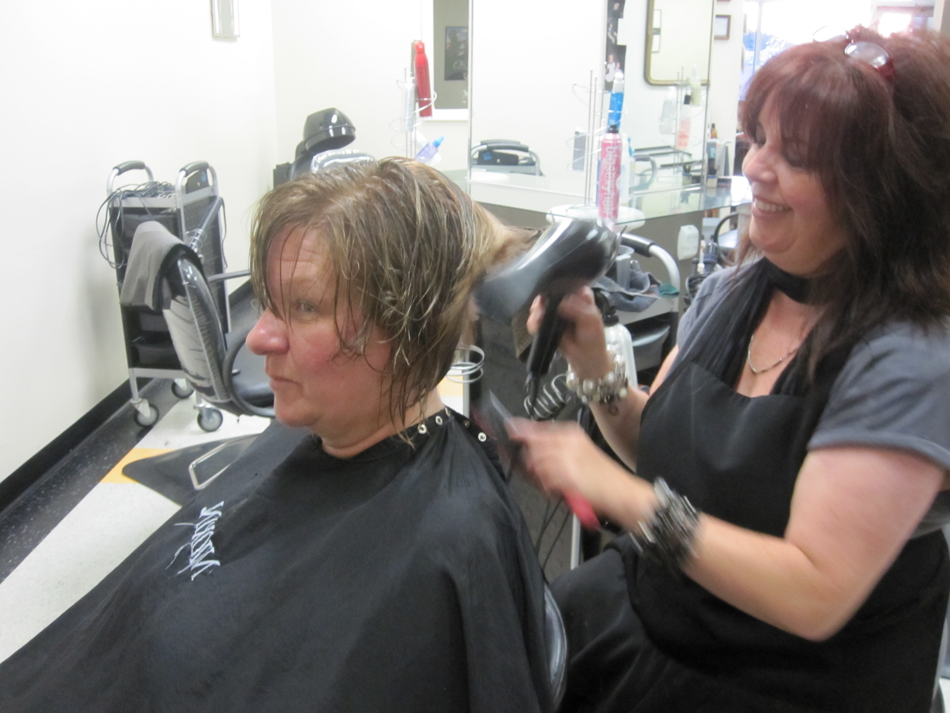 Hair Cut Imperfect Lady